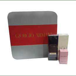 Set Giorgio Armani My way edp 7ml + Armani Code edp15ml + In Love with you edp 15ml