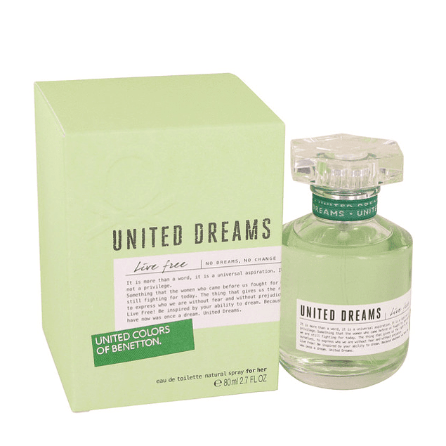 Benetton United Dreams Live Free For Her EDT 80 ML (M)