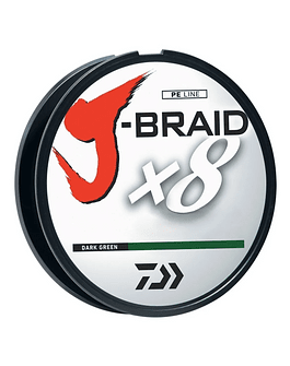 Daiwa J-Braid 0.28 verde oscuro  150 mts (30lb)