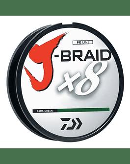 Daiwa J-Braid 0.19mm verde oscuro 300 mts (15lb)