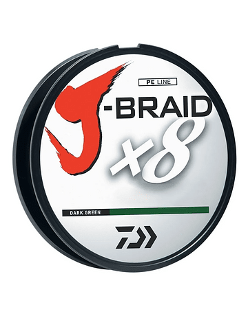 Daiwa J-Braid 0.19mm verde oscuro 300 mts (15lb)