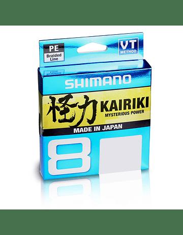 Shimano Kairiki x8 0.21mm 150 metros Gris