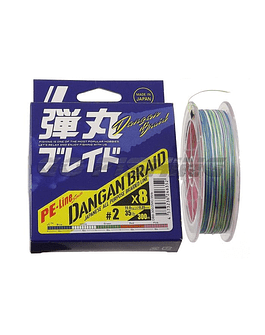 majorcraft dangan braid 35lb 200 mts multi color 8 hebras