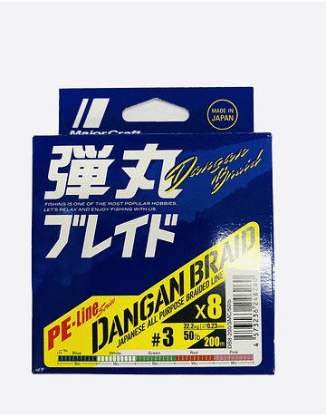 Majorcraft Dangan Braid 8X 0.23mm  PE 200mts