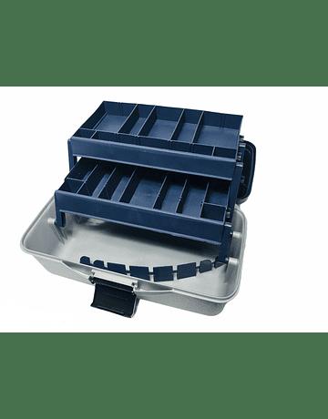 Storm caja azul-gris 2 bandejas