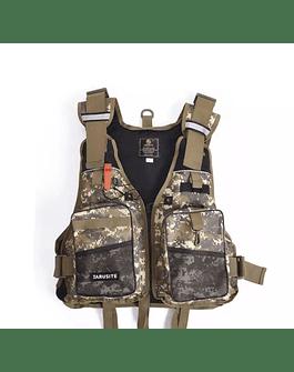 Jarusite chaqueta de pesca (camo cafe)
