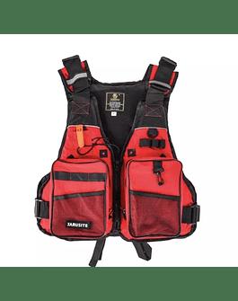 Jarusite chaqueta de pesca (rojo/negro)