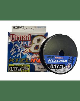 Owner kizuna Broad PE X8 0.17  9.2Kg 275m  (verde claro)