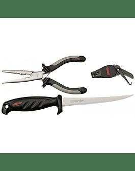 Combo Rapala cuchillo, cortahilo y alicate de pescador