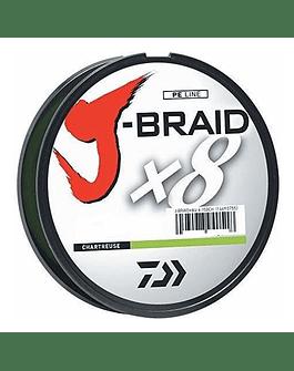 Daiwa J-Braid 0.28mm verde fluor 300 mts (30Lb)
