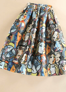 Picasso Ladies Midi Skirt