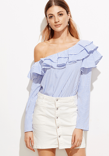 Striped Off Shoulder Blouse