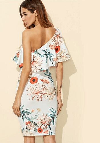 Tropical Bodycon Dress