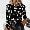 Ilianna's Black Dot Blouse