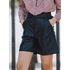 Lilian's Black  PU Shorts