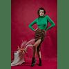 Mona Brown Pu Skirt