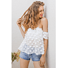 3D Flowers Strapless Top