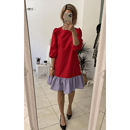 Block Red Dress