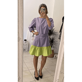 Block Purple Dress