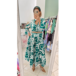 Grace Green Maxi Dress