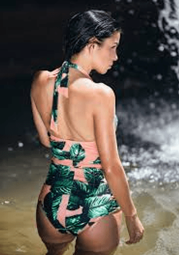 Izabal Palm Total Print  Swimsuit