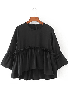 Black Chiffon Top