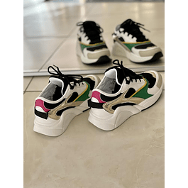 Colorblocked Grass Sneakers