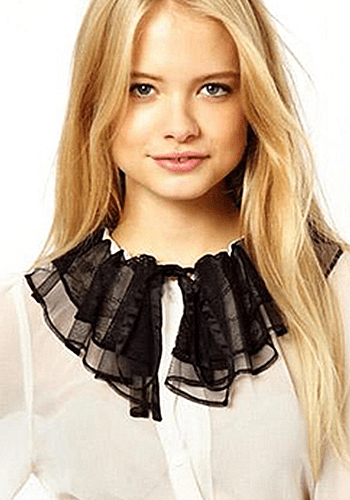 Black & White Collar Blouse