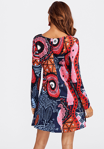 Graffiti Print Dress