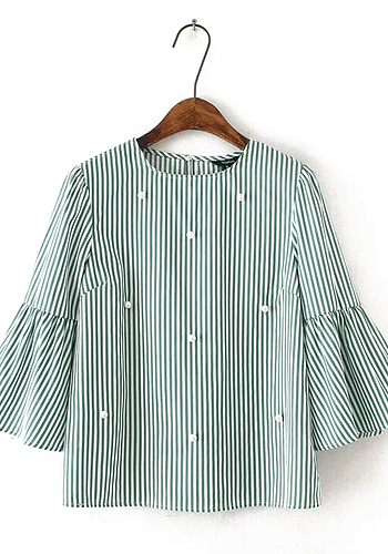 Green Pearls Blouse