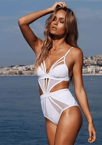 Aegean White Swimsuit