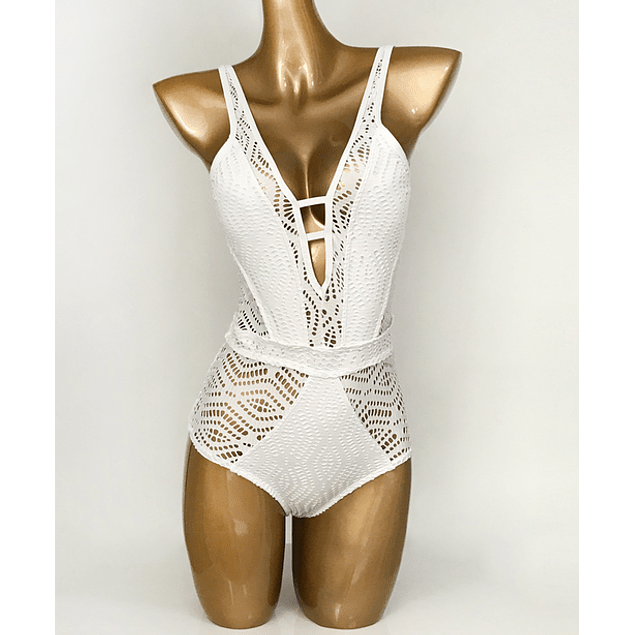 Crochet White Swimsuit