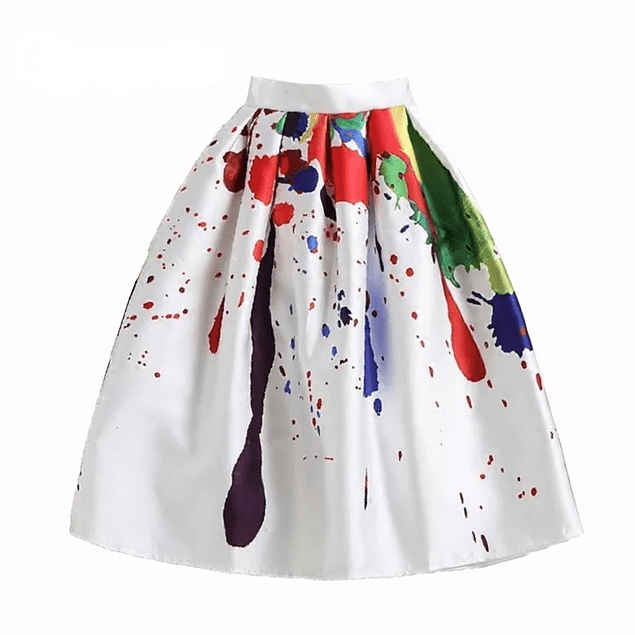 Watercolor's Midi Skirt