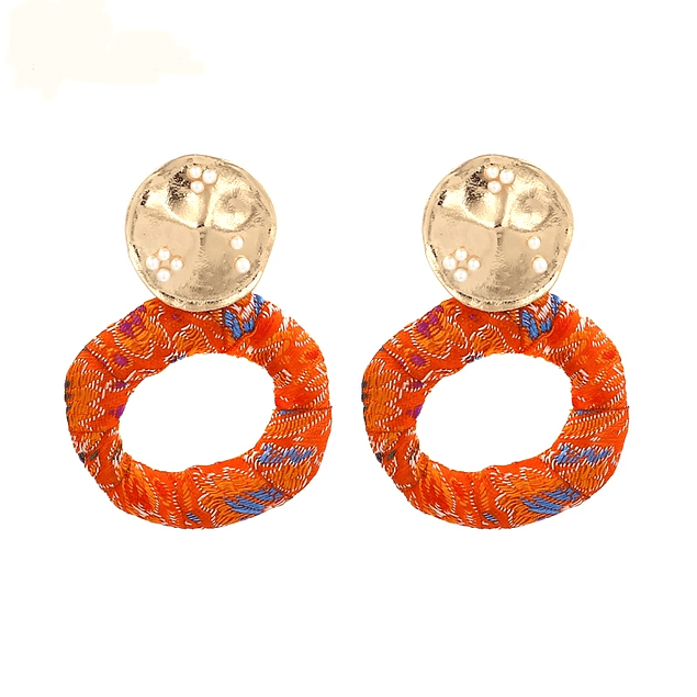 Ribbon Circles Earrings