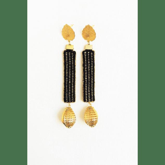Black Leaves Earrings