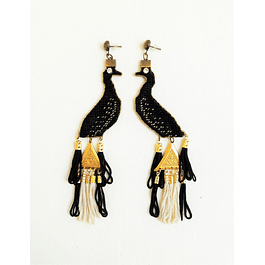 Black Peacocks Earrings