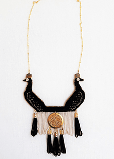 Black Peacocks Necklace