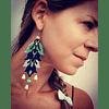 Blue Leaf Earrings