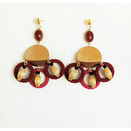 Ruby Circles Earrings