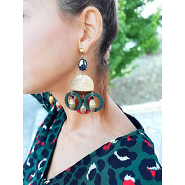 Pine Circles Earrings