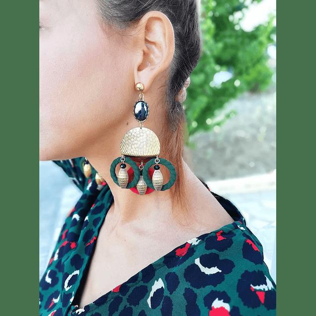 Pine Circles Earrings