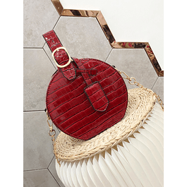 Pomegranate Croc Bag