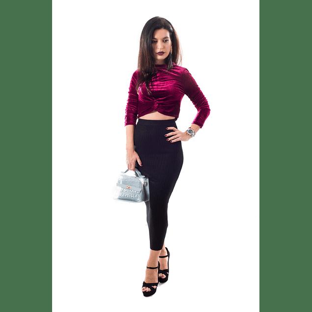 Burgundy Velvet Top
