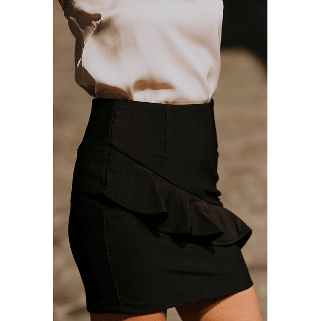 Dark Ruffle Skirt