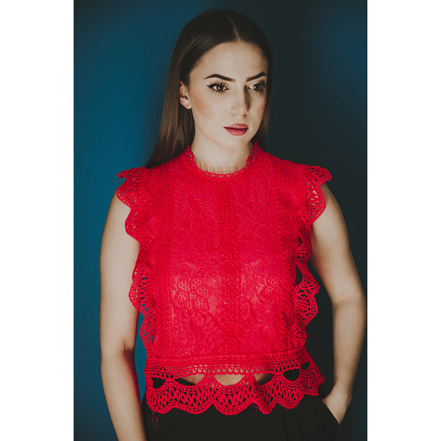 Lilly Coral Top