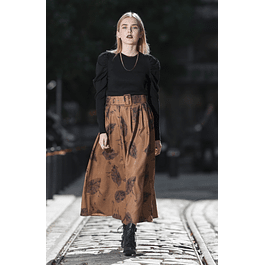 Ingrid Camel Skirt