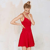 Red Flared Dress
