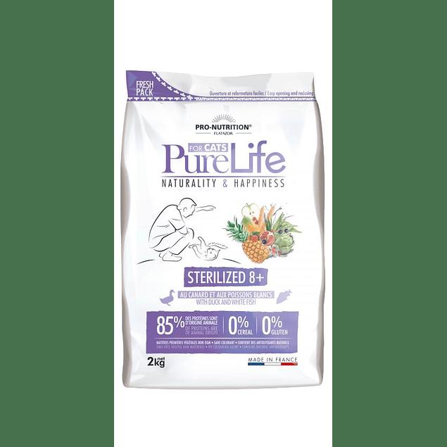 Pure Life Gato 8+ Esterilizado 2 KG
