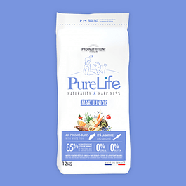 PURE LIFE MAXI JUNIOR SACO 12 KG.