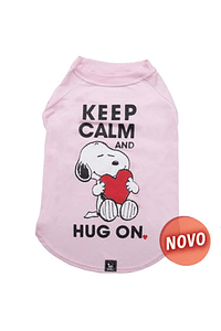 T-SHIRT SNOOPY ROSA / KEEP CALM